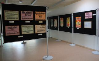 Die Ausstellung in den neuen Räumen im Harrerhaus