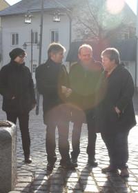 .. mit SPD Stadträten - Sabine Seidel, Florian Spannagl, Jochen Prikril und Dagmar Levin